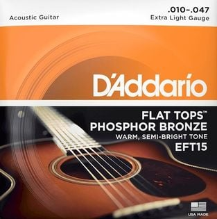 Struny do gitary akustycznej Daddario EFT15 10-47