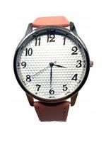 Pikowany Damski Zegarek Pasek Klasyczny Różowy