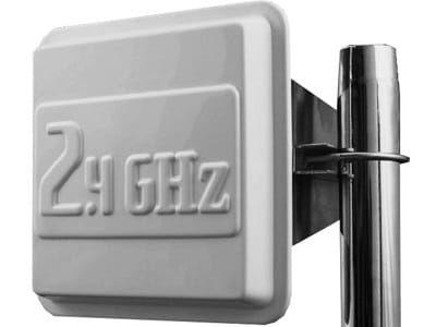 Antena mikropaskowa 2,4 GHz 17 dbi gniazdo N gold