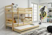 Łóżko piętrowe trzyosobowe Eryk 190x80 dla dzieci dziecięce + STELAŻ zdjęcie 6