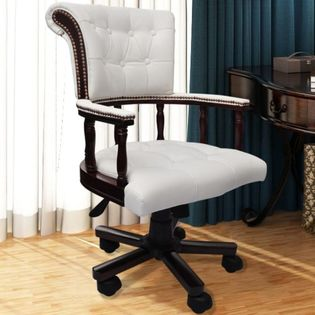 Krzesło Biurowe Fotel Kapitański Chesterfield