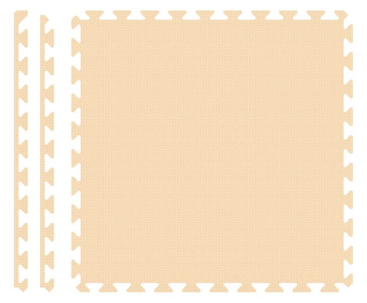 PUZZLE PIANKOWE MATA 4szt 62x62x1,1 cm Krem na Arena.pl