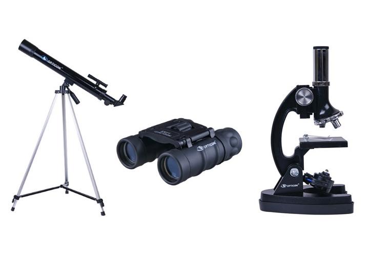 Zestaw opticon sciencemaster se teleskop mikroskop lornetka