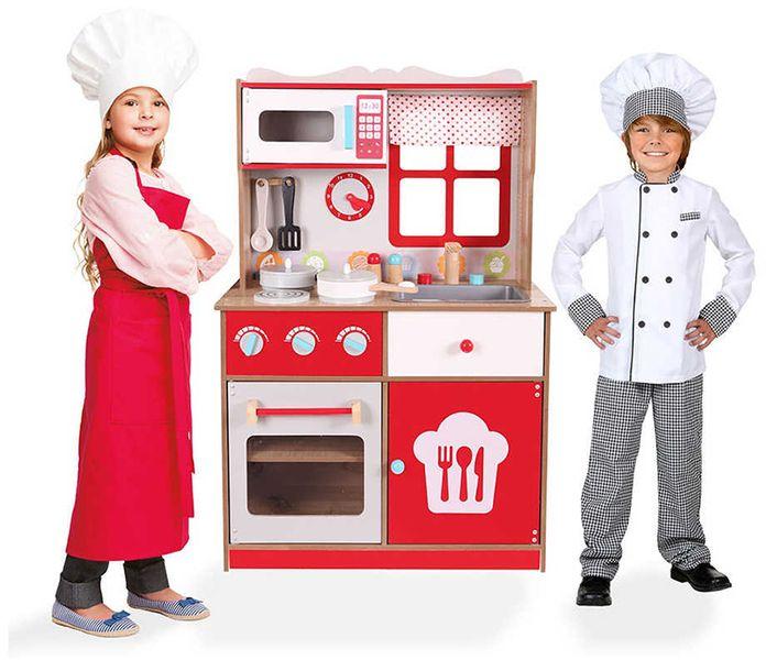 Ecotoys Kuchnia Drewniana Z Wyposażeniem Dla Dzieci Hit