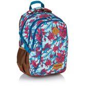 Plecak szkolny młodzieżowy Astra Head HD-63, w czerwone kwiaty