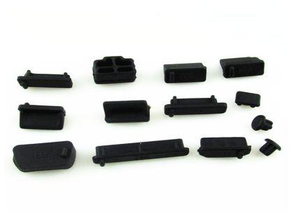 Zaślepki gniazd komputerowych USB HDMI VGA  - Czarne