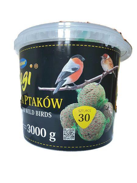 Kula zimowa kule tłuszczowe dla ptaków sikorki wiaderko 30 x 100 gr zdjęcie 1