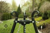Grill ogrodowy na trójnogu PIOTR z rusztem stalowym 70 cm ES-ER zdjęcie 3