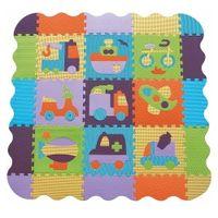 Piankowe puzzle podłogowe z obrzeżem Bajkowy Transport 83 el.