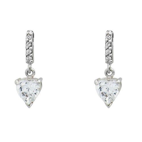 INGRID Komplet srebrnej biżuterii z cyrkoniami serca zdjęcie 5