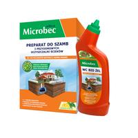 Microbec Ultra Preparat do szamb 1kg cytryna+WC bio żel GRATIS