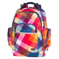Dwukomorowy plecak szkolny CoolPack Brick 28 l, Candy Check A531