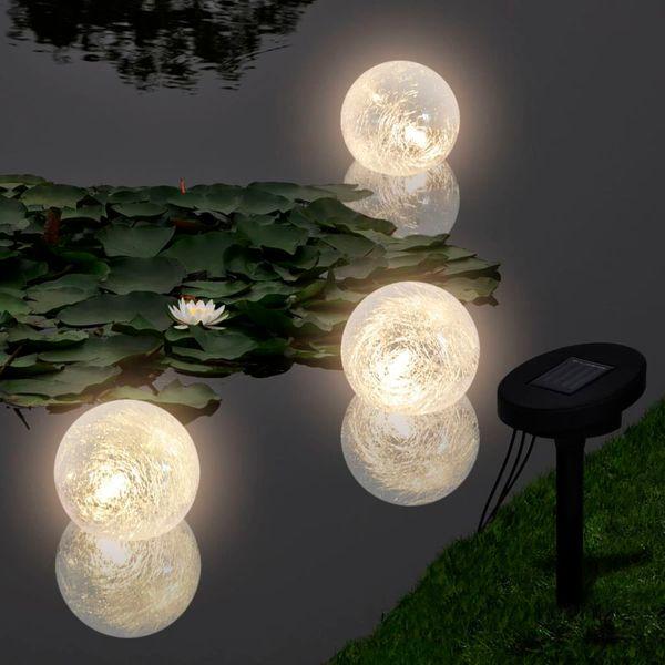 Pływające Lampy Solarne Led Do Basenuoczka Wodnego 3szt