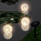 Pływające Lampy Solarne LED do Basenu/Oczka Wodnego (3szt)