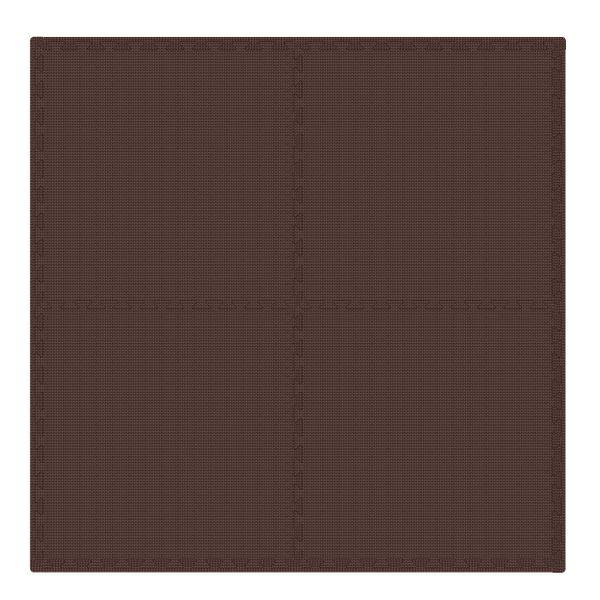 PUZZLE PIANKOWE MATA 4szt 62x62x1,1 cm Brąz zdjęcie 1