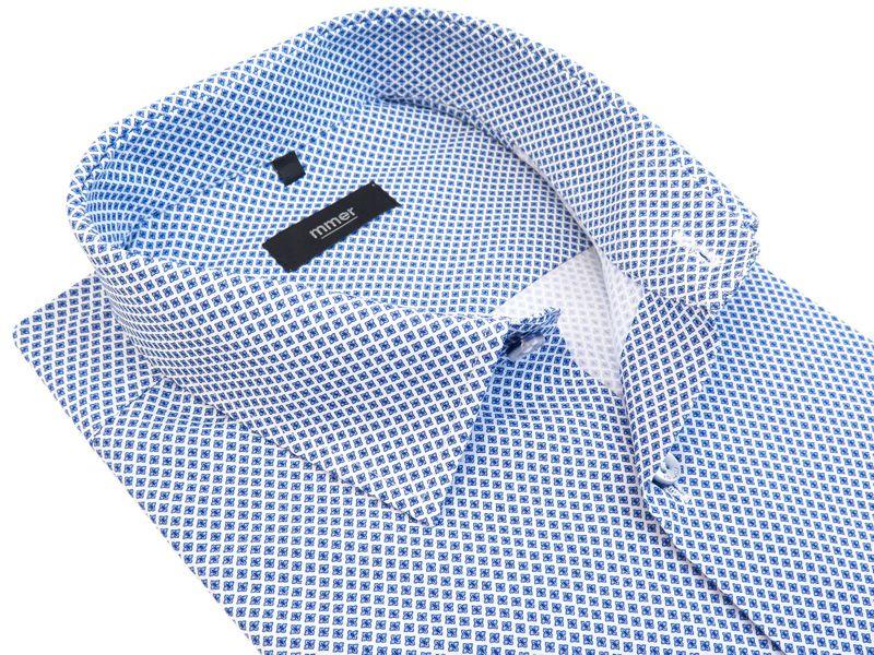 Koszula w drobny wzór - kwiatki 850 Rozmiar koszuli i fason - 176-182 / 43-Slim zdjęcie 1