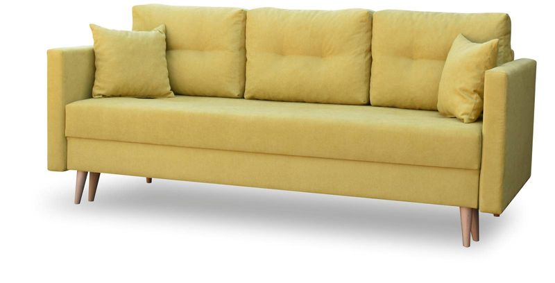 Kanapa rozkładana z funkcją spania na sprężynach, zmywalna sofa Lahti zdjęcie 1