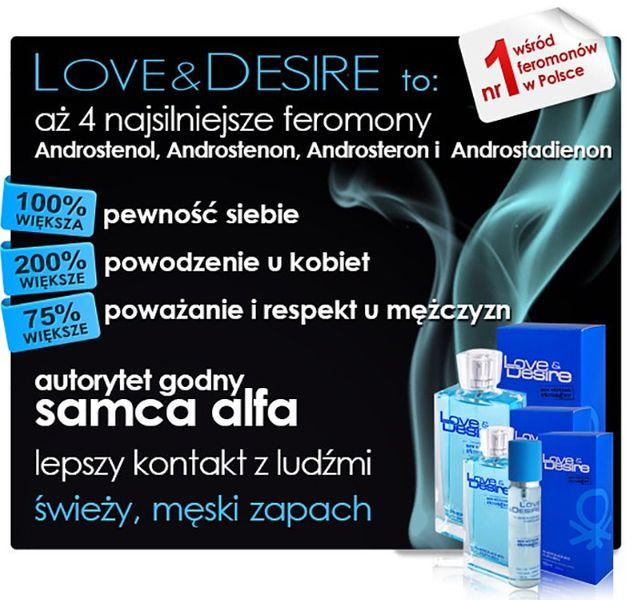 PERFUMY Z FEROMONAMI LOVE DESIRE MĘSKIE NOWE 100ML zdjęcie 2