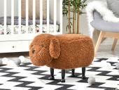 Siedzisko Pies brązowy z oklapniętymi uszami Pufa dziecięca