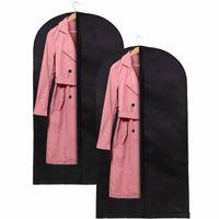 Organizer na ubrania 2 szt. pokrowiec na garnitur 150 cm z suwakiem zestaw czarny