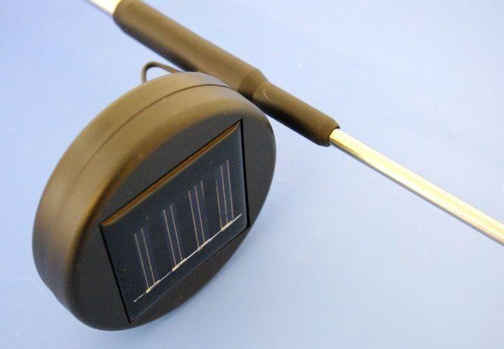 Lampa solarna kolorowa LED w kształcie motyla, oświetlenie ogrodowe zdjęcie 2
