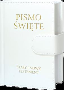 Biblia Poznańska Stary i Nowy Testament B6 oprawa skóropodobna biała