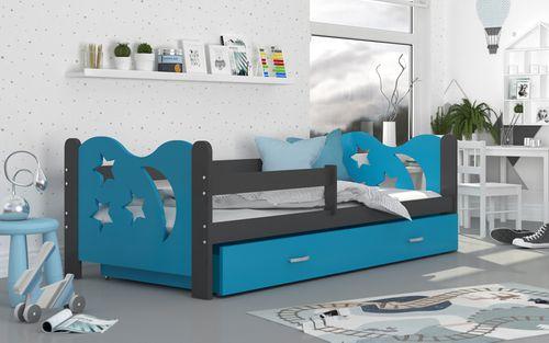 Łóżko dla dzieci MIKOŁAJ COLOR 160x80  szuflada + materac na Arena.pl
