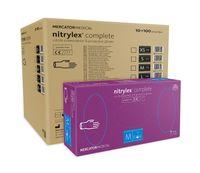 Rękawice nitrylowe nitrylex complete M karton 10 x 100 szt