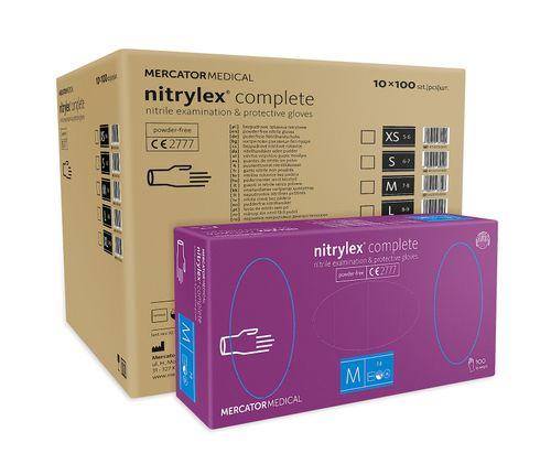 Rękawice nitrylowe nitrylex complete M karton 10 x 100 szt na Arena.pl
