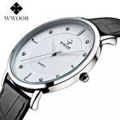 Zegarek męski, Wwoor, biały, czarny, wodoszczelny, elegancki, nowy zdjęcie 2