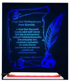 prezent na DZIEŃ NAUCZYCIELA STATUETKA LED PAPIRUS