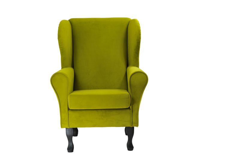 Fotel uszak oliwkowy gładki zdjęcie 8