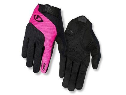 Rękawiczki damskie GIRO TESSA GEL LF długi palec black bright pink roz. S (obwód dłoni 155-169 mm / dł. dłoni 160-169 mm) (NEW)
