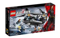 LEGO 76162 Czarna Wdowa i pościg helikopterem