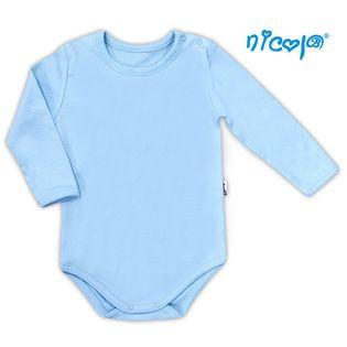 """010 11 Body niemowlęce z długim rękawem """"Basic"""" Nicol - niebieski,"""