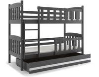 Łóżko łóżka dziecięce Kubuś piętrowe dla dwójki osób 190x80 + SZUFLADA