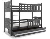 Łóżko łóżka dziecięce Kubuś piętrowe dla dwójki osób 190x80 + SZUFLADA zdjęcie 1