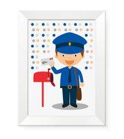 Obrazki obrazy do pokoju dziecięcego dla dziecka promocja LISTONOSZ