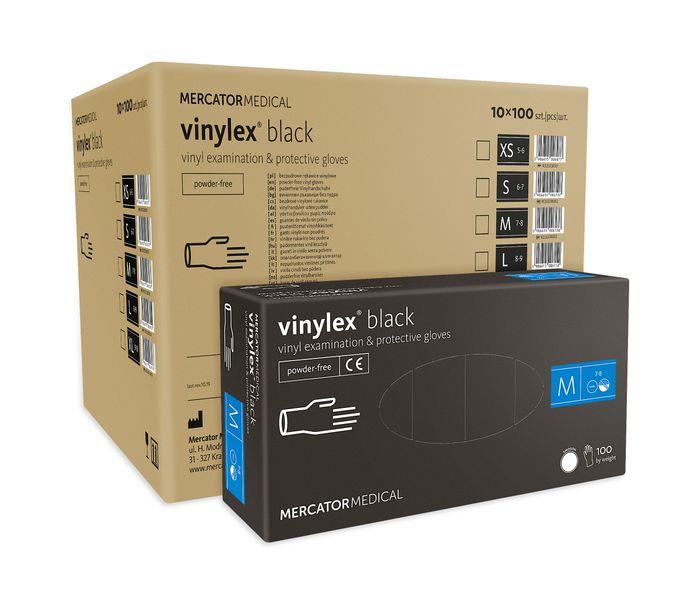 Rękawice winylowe vinylex black rozmiar M karton 10 x 100 szt na Arena.pl