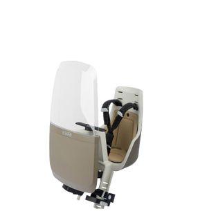 Fotelik rowerowy przedni Bobike Mini Exclusive z osłoną - Safri Chic