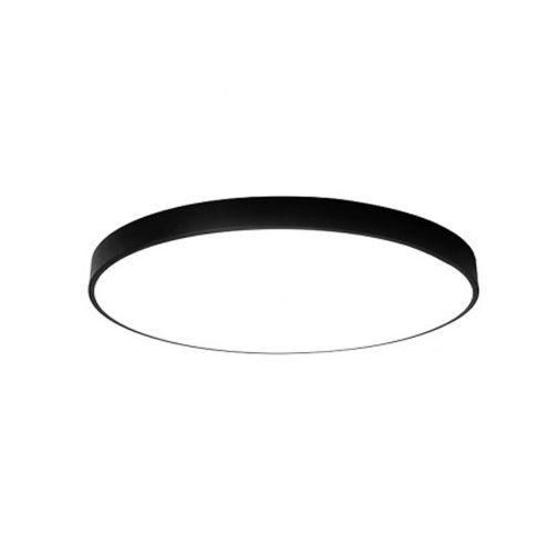 nowoczesna lampa plafon okrąg LED cienka sufitowa czarna barwa ciepła na Arena.pl