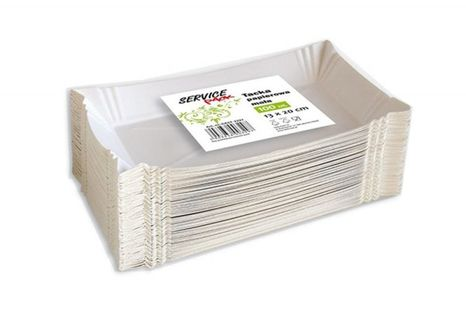 Tacki Papierowe Stella, Małe, 100 Szt., Białe