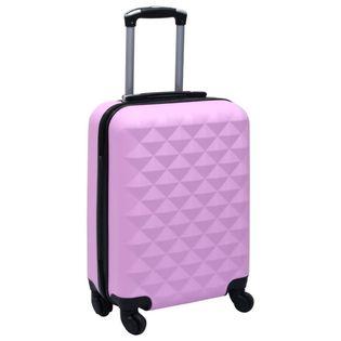 Twarda walizka na kółkach różowa ABS VidaXL