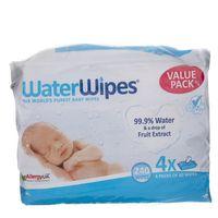WaterWipes Chusteczki nasączane czystą wodą - 4 x 60 sztuk