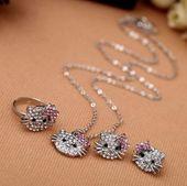 Zestaw biżuterii dziecięcej fanki Hello Kitty