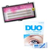 Zestaw rzęsy kępki 8 mm profil C+klej DUO Clear 9g
