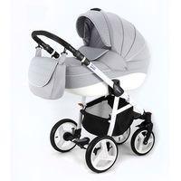 Popielaty Neonex Alfa Adamex wózek dziecięcy wielofunkcyjny 3w1