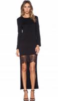 Sukienka Asymetryczna Koronka Czarna S