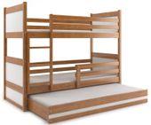 Łóżko dziecięce Mateusz 160x80 dla dzieci meble piętrowe 3osobowe