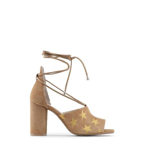 1b5677b5 Made in Italia skórzane sandały damskie na obcasie brązowy 36 • Arena.pl